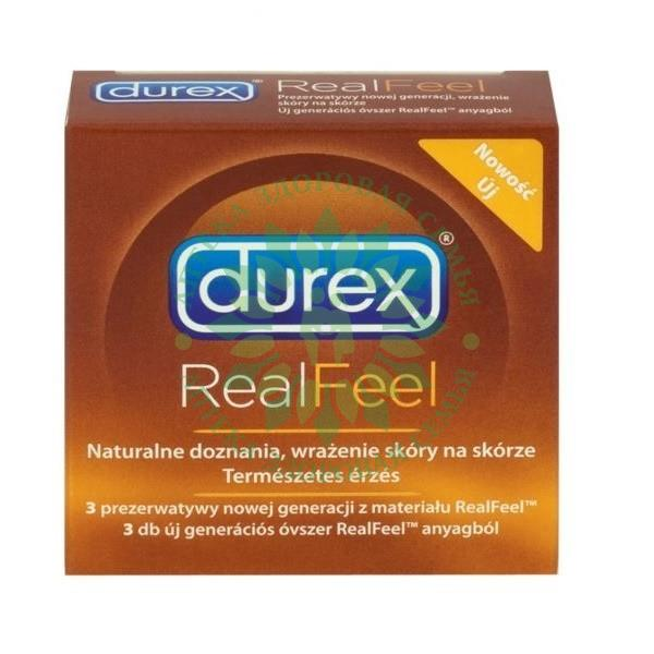 ДЮРЕКС ПРЕЗЕРВАТИВ REAL FEEL №3 [DUREX]